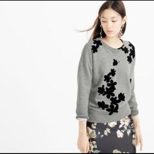 J. Crew Graphic Floral Sweatshirt